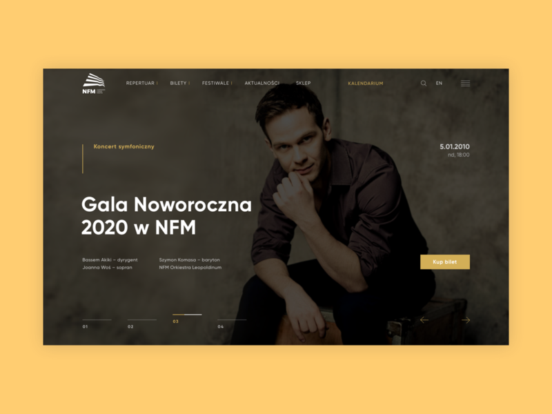 Narodowe Forum Muzyki animation web webdesign uxdesign ux uidesign design website design website