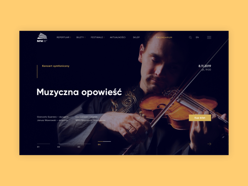 Narodowe Forum Muzyki | Website animation web webdesign uxdesign ux uidesign design website design website