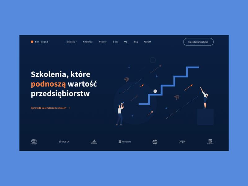 Training company | Website illustration web animation uidesign website design website webdesign uxdesign ux design