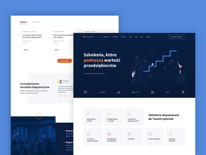Training company | Website animation illustration web uidesign website design website webdesign uxdesign ux design