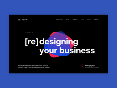 LeanSpin | Website | Coming soon... typography web branding ui website design website webdesign uxdesign ux