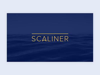 Scaliner | Logo typography vector branding logo