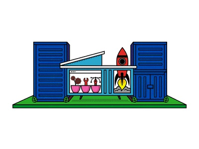 Docker Container House code school geometric deploy development environment dev tools docker