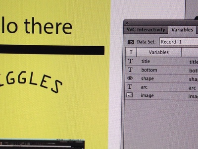 dynamic data in Illustrator dynamic scripts learning illustrator