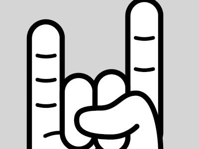 rock hand illustrator