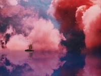 boat in a cloud boy cloud boat design illustration photomanipulation bright