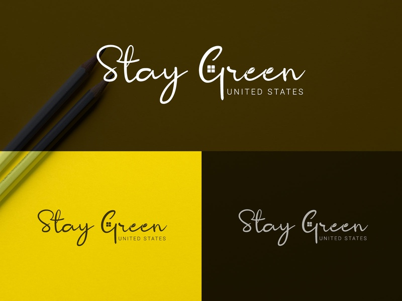 Stay Green United States Signature logo logo art design flat illustrator typography minimal lettering illustration branding