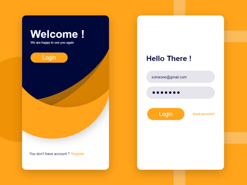 welcom login interface illustration dailyui app web ui ux design