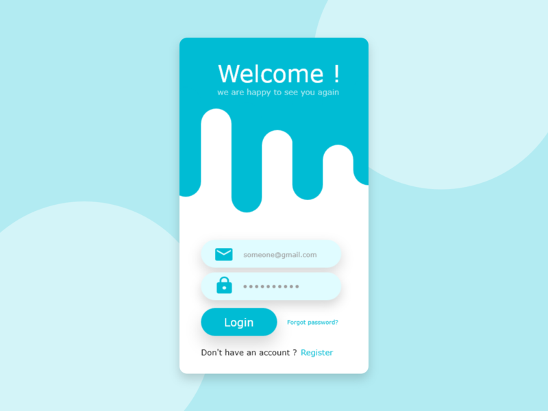 login interface dailyui app web ui ux design