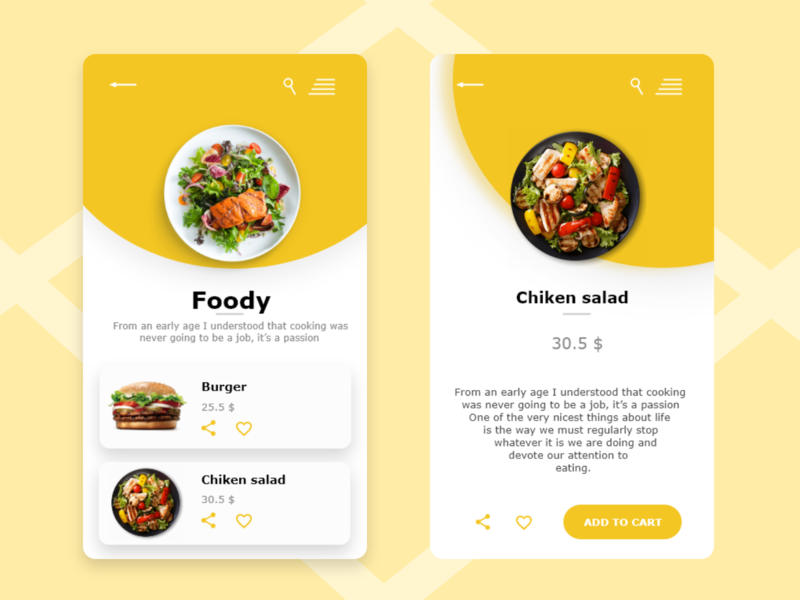 App food design food illustration food app dailyui app ui ux design