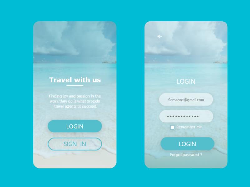travel with us app design dailyui app ui ux design