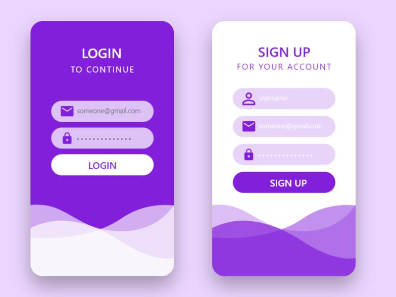 Login form app dailyui ui ux design