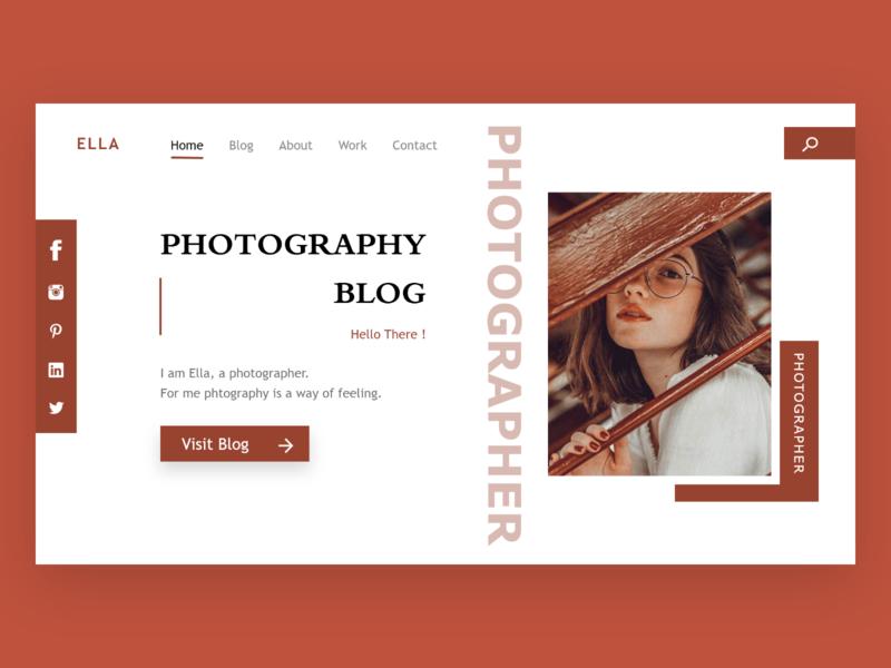 Landing page photography landing page dailyui web ui ux design