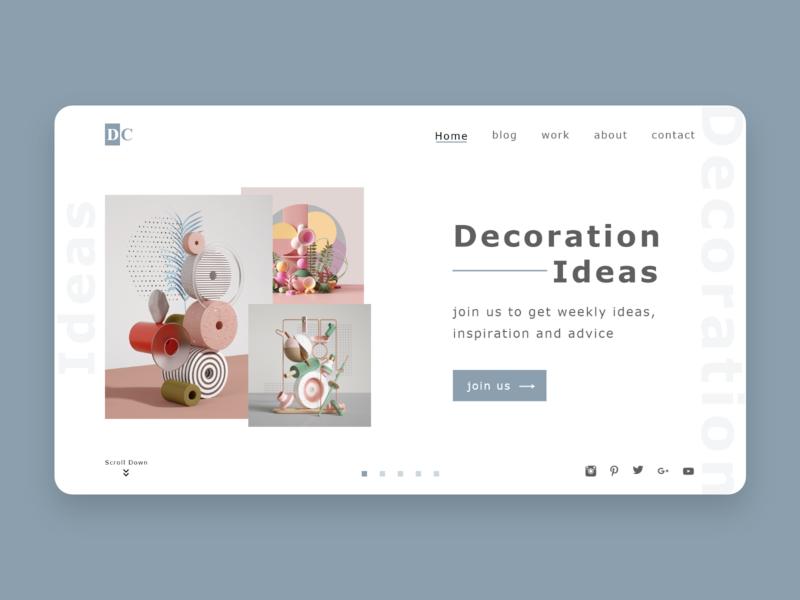 decoration landing page landing page dailyui web ux ui design