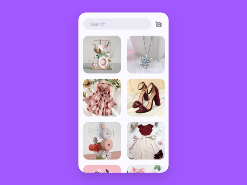 gallery design app dailyui ui web ux design