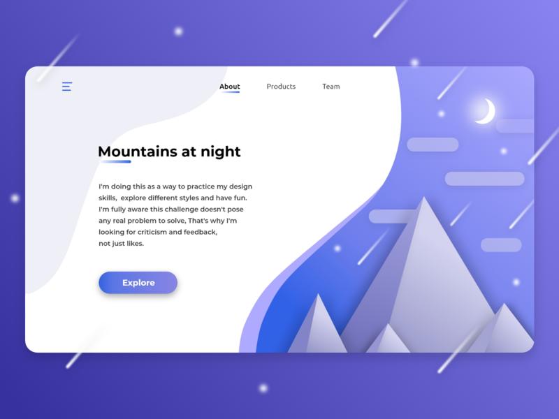 mountain landing page landing page ui dailyui web ux design
