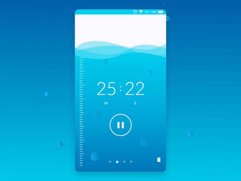 countdown app app dailyui ui ux design