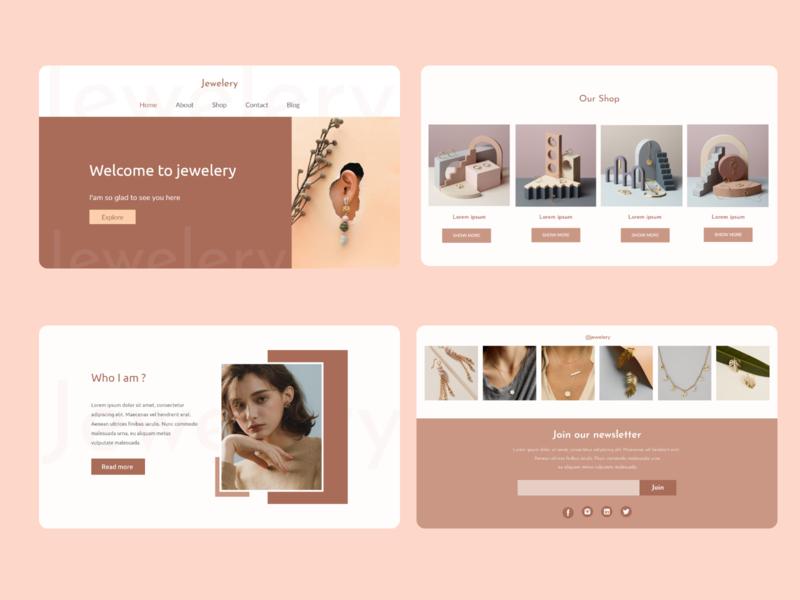jewelery web desig dailyui web ui design