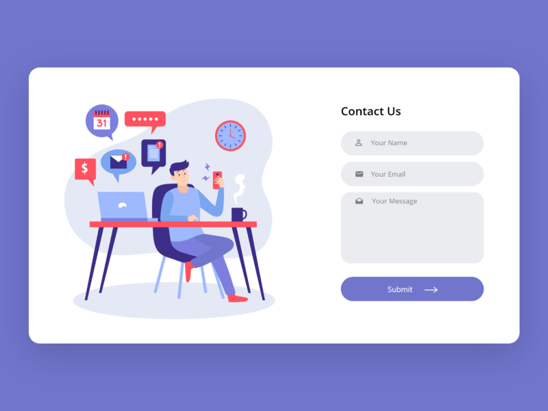 Contact Us dailyui web ux ui design