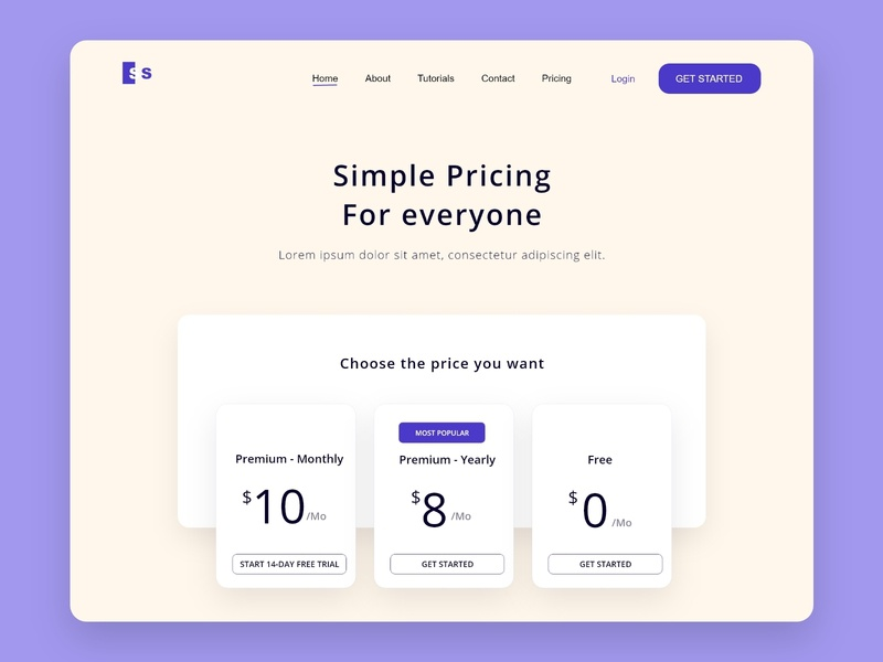pricing design dailyui web ux ui design