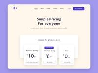 pricing design dailyui web ux ui design