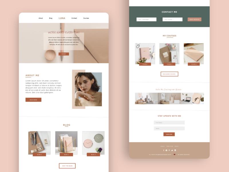 Luna website design dailyui web ui ux design