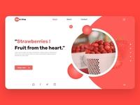 Strawberry landing page landing page dailyui web ux ui design