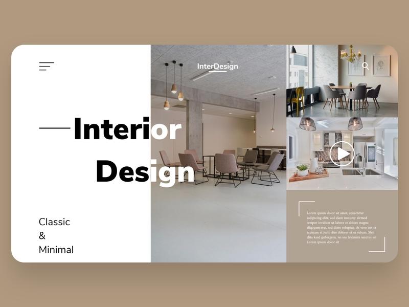 Interior design landing page landing page dailyui web ux ui design