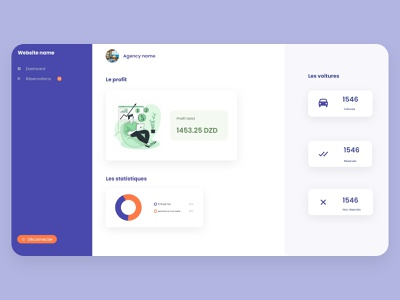 Dashboard web design web ui ux design