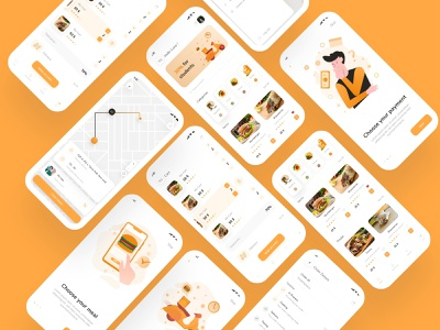 food delivery app food food delivery app ui design ux design dailyui ux ui design