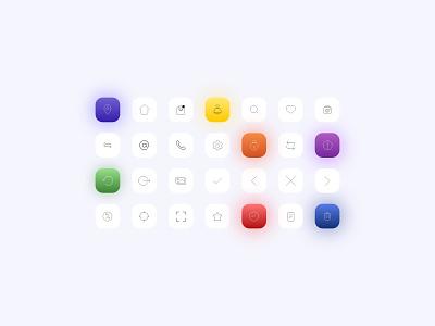 set of icons icon design iconography icons ux ui design