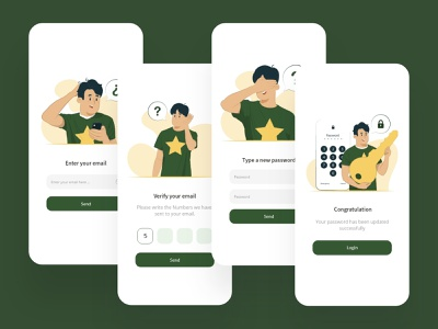 forgot password concept app ux ui design