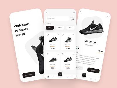 ecommerce shoes ux design ui design shop shoe design shoes store shoes app shoes ecommerce app ux ui design