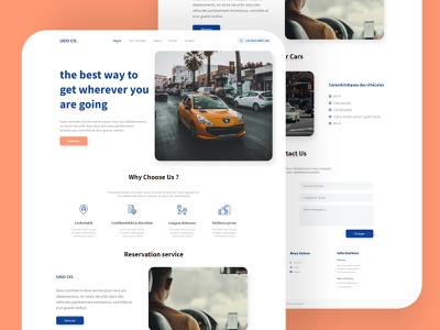 ugo co taxi travel taxi service landing page taxi service ui design landing page web ux ui design