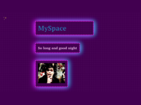 MySpace nostalgia