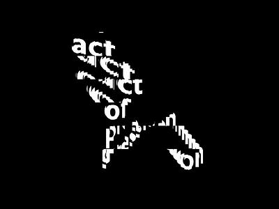 act of progression creative coding typography kinetic type