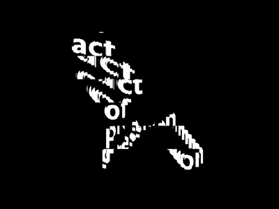 act of progression creative coding typography kinetic type