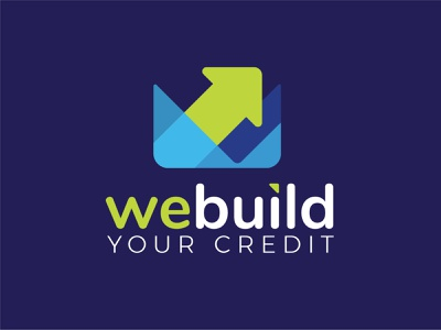 webuild financial credit arrow graphic identity logo branding typography design