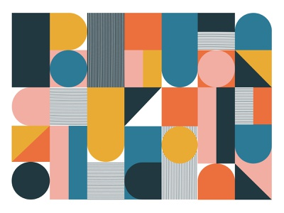 miscellaneous shapes pattern shapes geometric retro graphic poster design