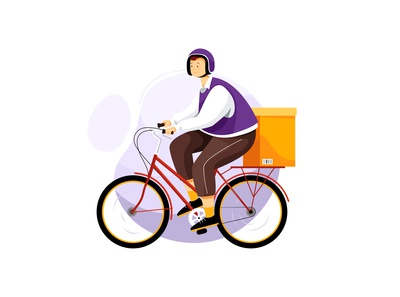 Bicycle Delivery Service Vector illustration