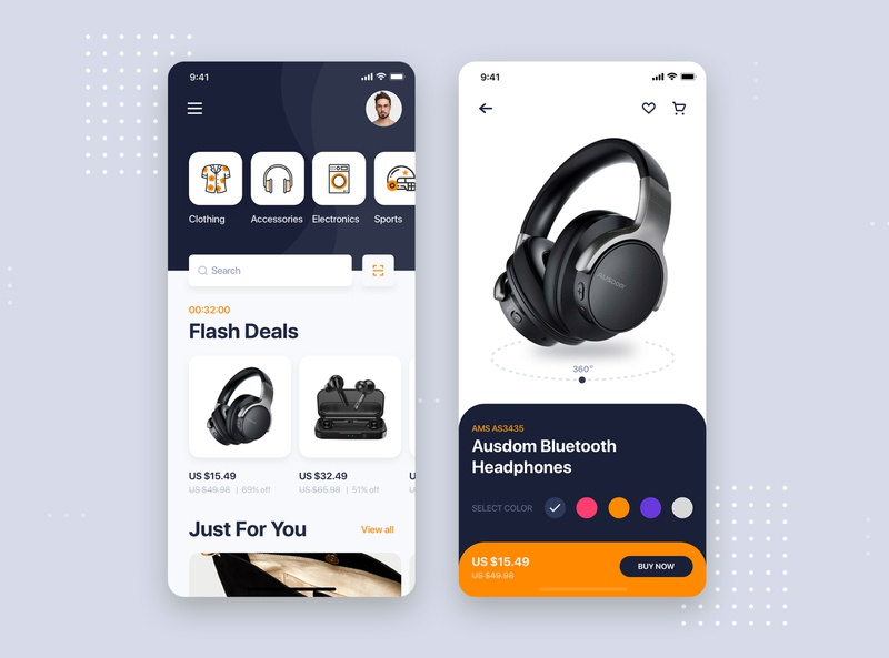 Ecommerce mobile concept shopping app ecommerce store shop kit concept ui design minimal flat material interface wireframe ux ios mobile app ui kit template theme