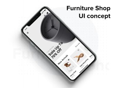 Furniture mobile UI concept template kit concept interface material mobile ui kit app ui furniture app furniture store
