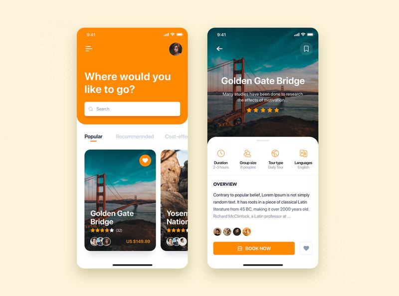 Travel app mobile concept travel app vacation tourist booking travel concept template kit interface material illustration mobile ui kit app ui