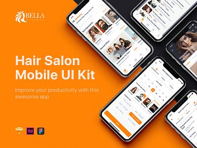 Bella - Hair Salon UI Kit mobile ui kit material interface app ui app cutters hair stylist hair design haircuts barber shop salon app spa beauty salon
