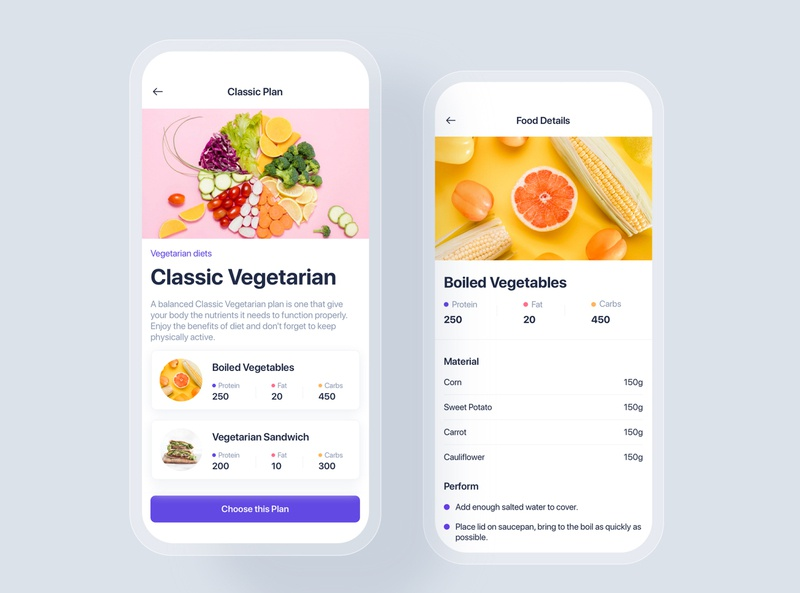 Meal Planner mobile concept mobile ui kit ui material interface statistics app ui app healthy beauty food dietitian diet workout gym nutrition sport fitness meal planner lose weight