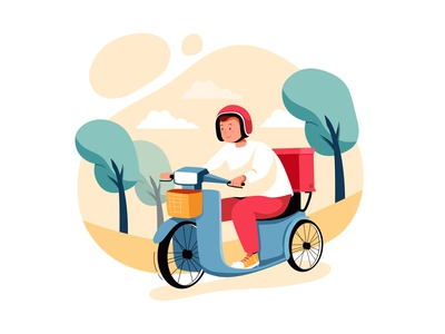 Delivery Order Illustration concept payment e-commerce commercial ecommerce purchase delivery smart device customer flat credit commerce cart app smartphone web business shop concept illustration