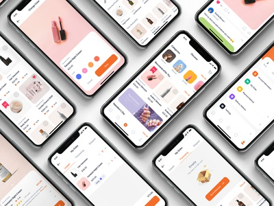Blossom - Beauty UI Kit mobile ui kit ui material ios interface flat bundle app ui app cutters hair stylist hair design haircuts barber shop salon app spa beauty hairsalon salon