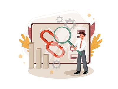 Blockchain Platform Illustration concept exchange