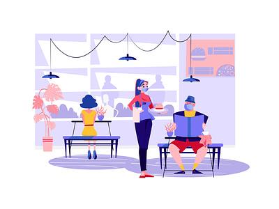 Social Distancing at the Restaurant social distancing