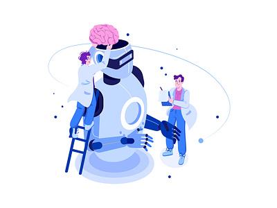 AI Technology Development Illustration Concept artificial intelligence
